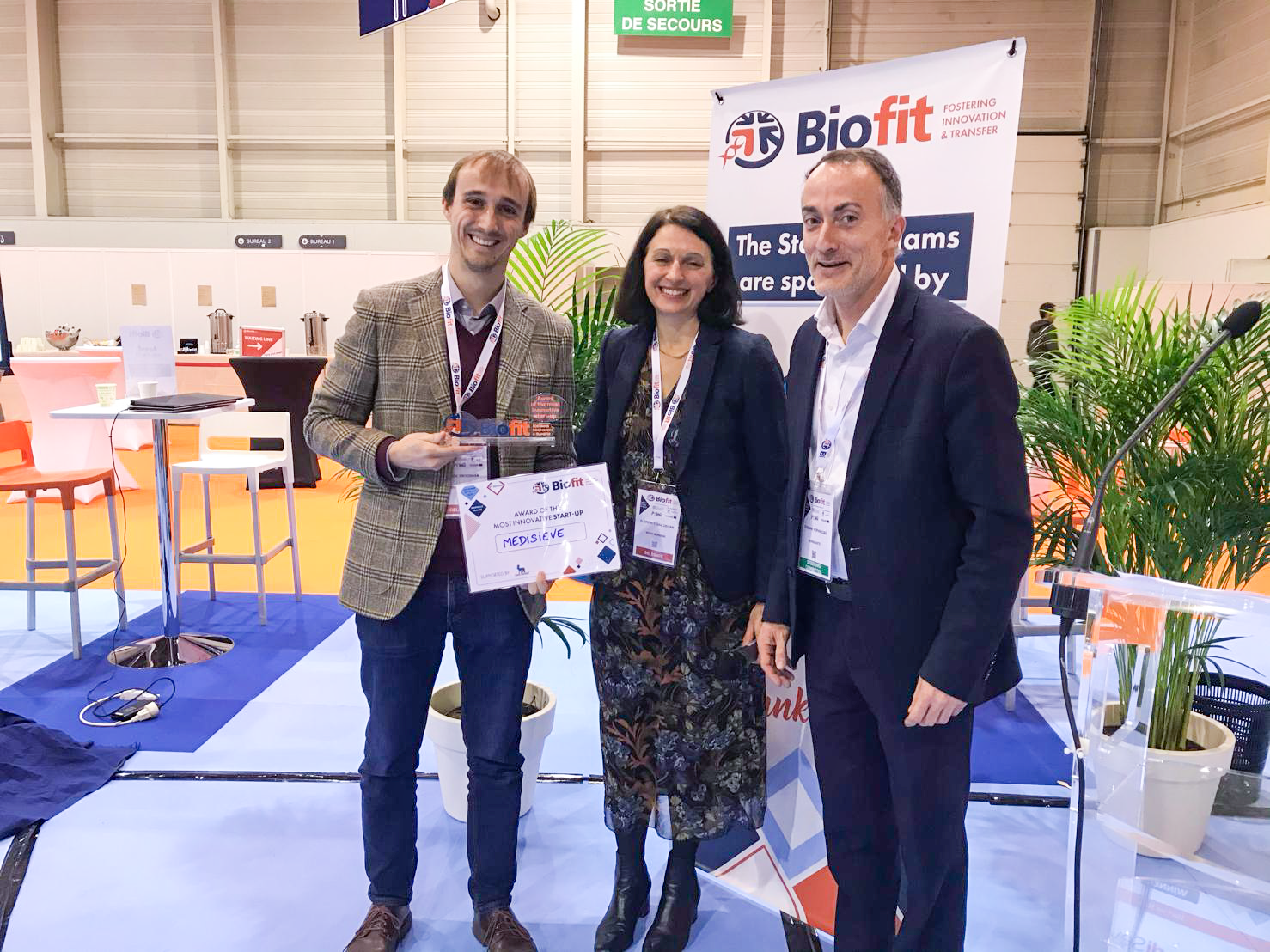 MediSieve wins Most Innovative Startup Award at BioFit Event 2019.